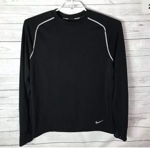 NIKE DriFit Combat Black Long Sleeve Shirt SZ L